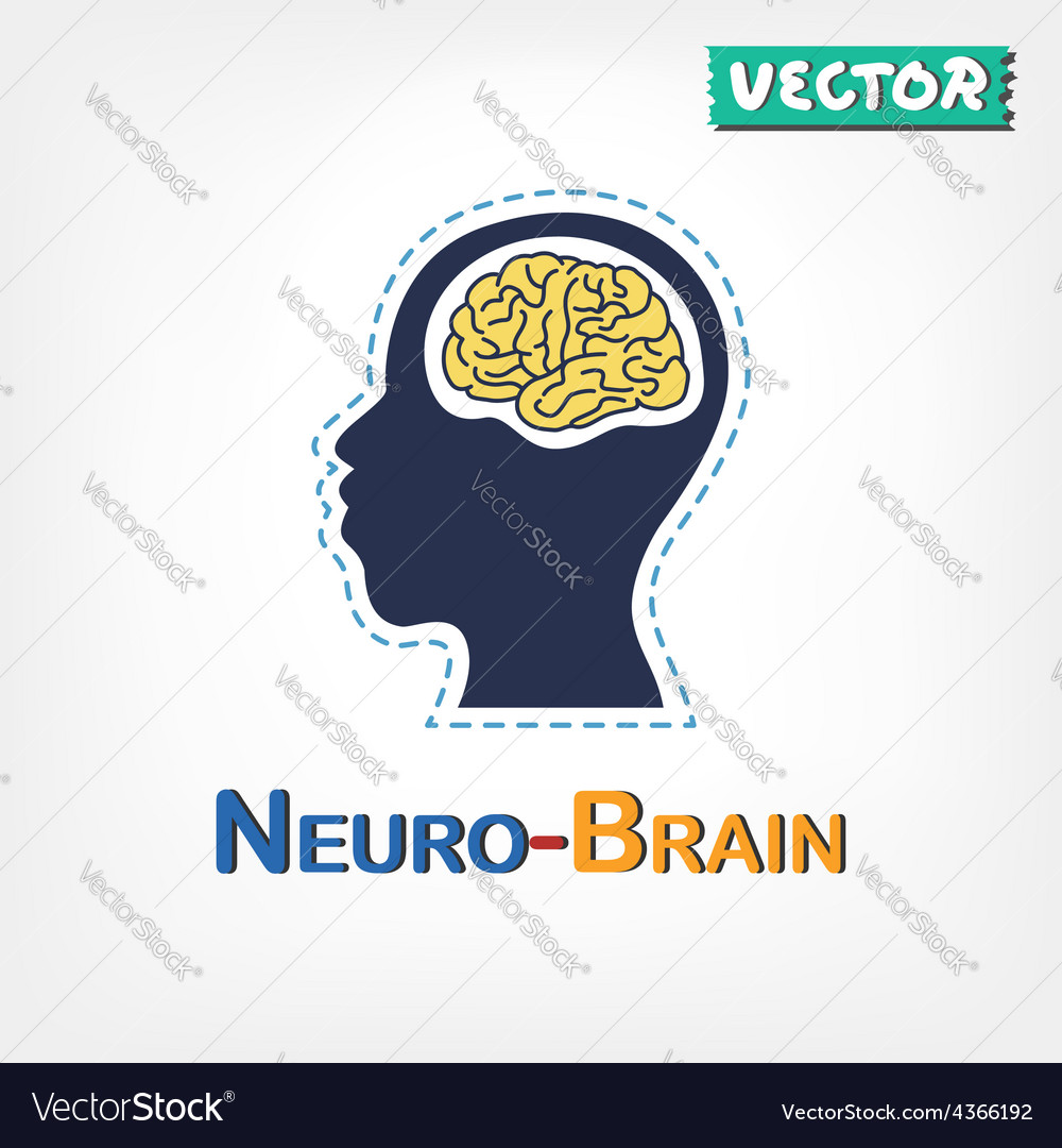 Brain neurological symbol vector | Price: 1 Credit (USD $1)
