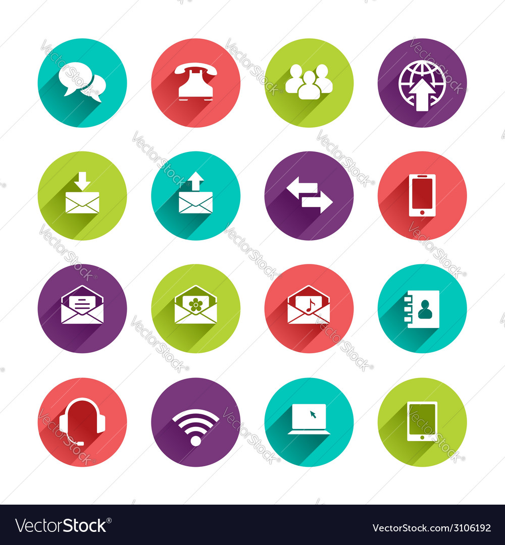 Flat application icons set vector   Price: 1 Credit (USD $1)