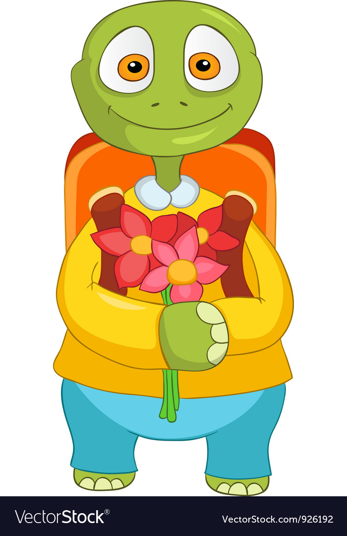 Funny turtle back to school vector | Price: 3 Credit (USD $3)