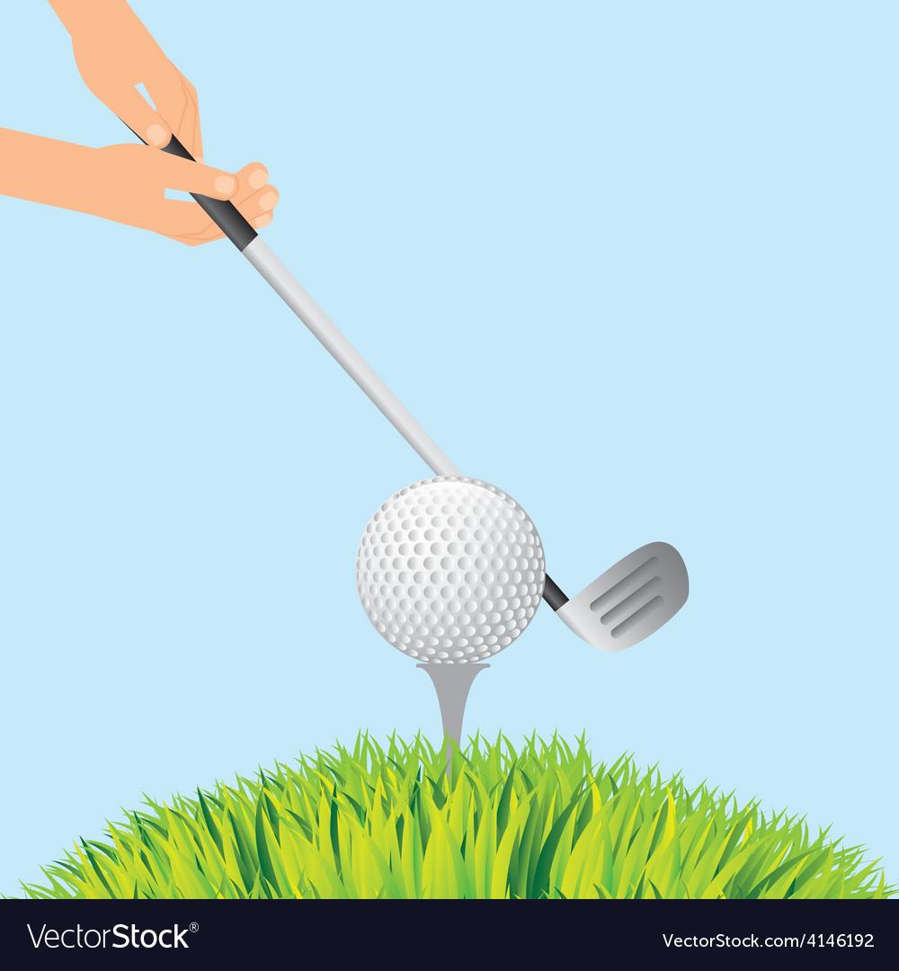 Golf sport vector | Price: 1 Credit (USD $1)