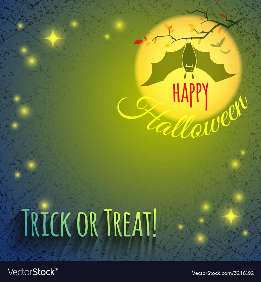 Halloween background with bat vector | Price: 1 Credit (USD $1)