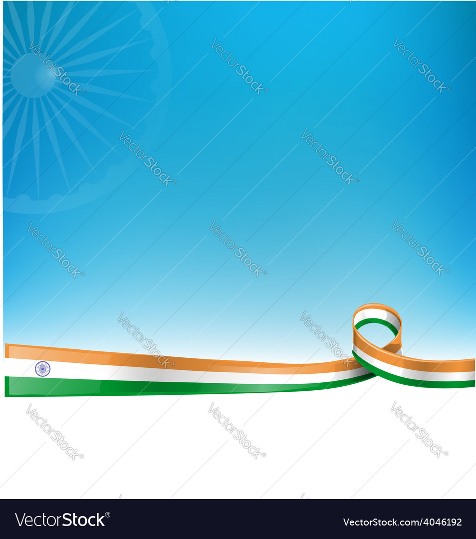Indian flag background vector | Price: 1 Credit (USD $1)