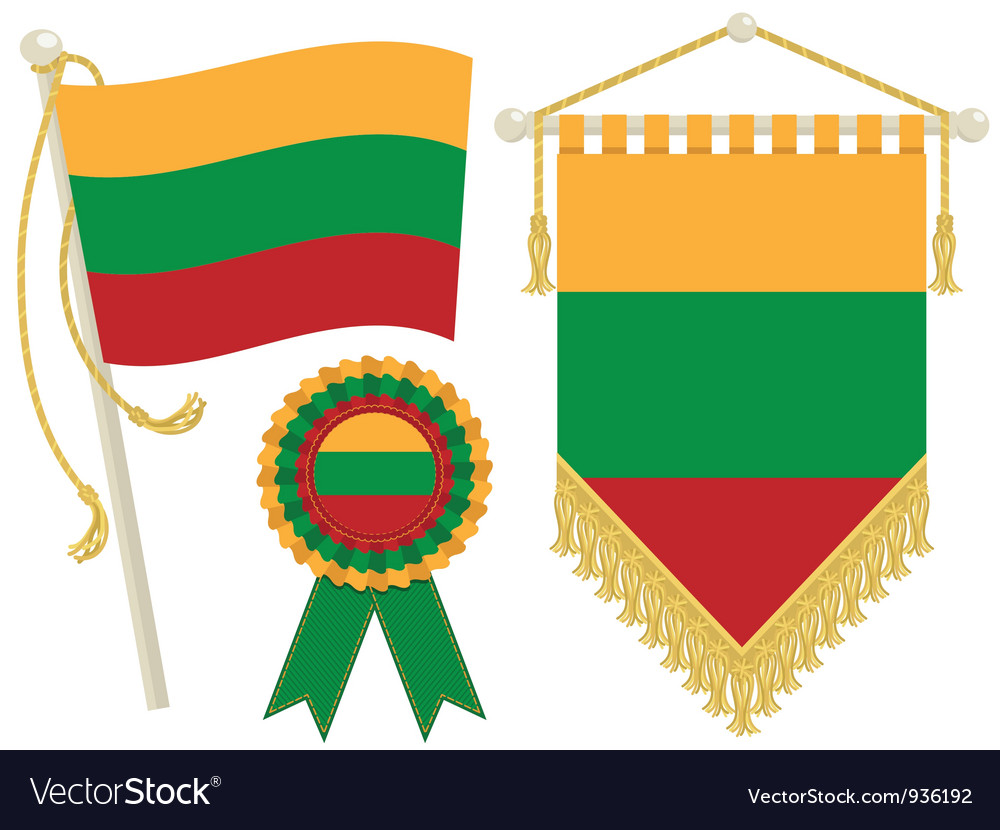 Lithuania flags vector | Price: 1 Credit (USD $1)
