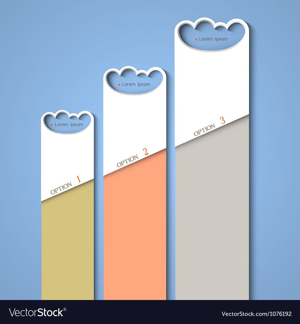 Progress background of stylized clouds vector | Price: 1 Credit (USD $1)