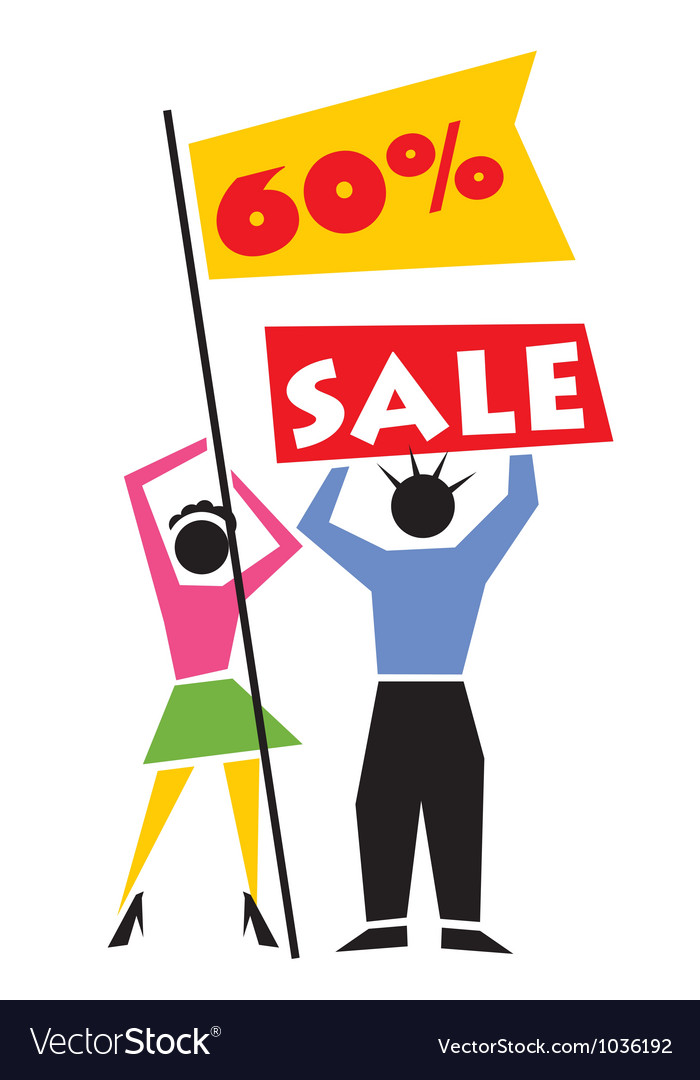 Retail sale sign vector | Price: 1 Credit (USD $1)