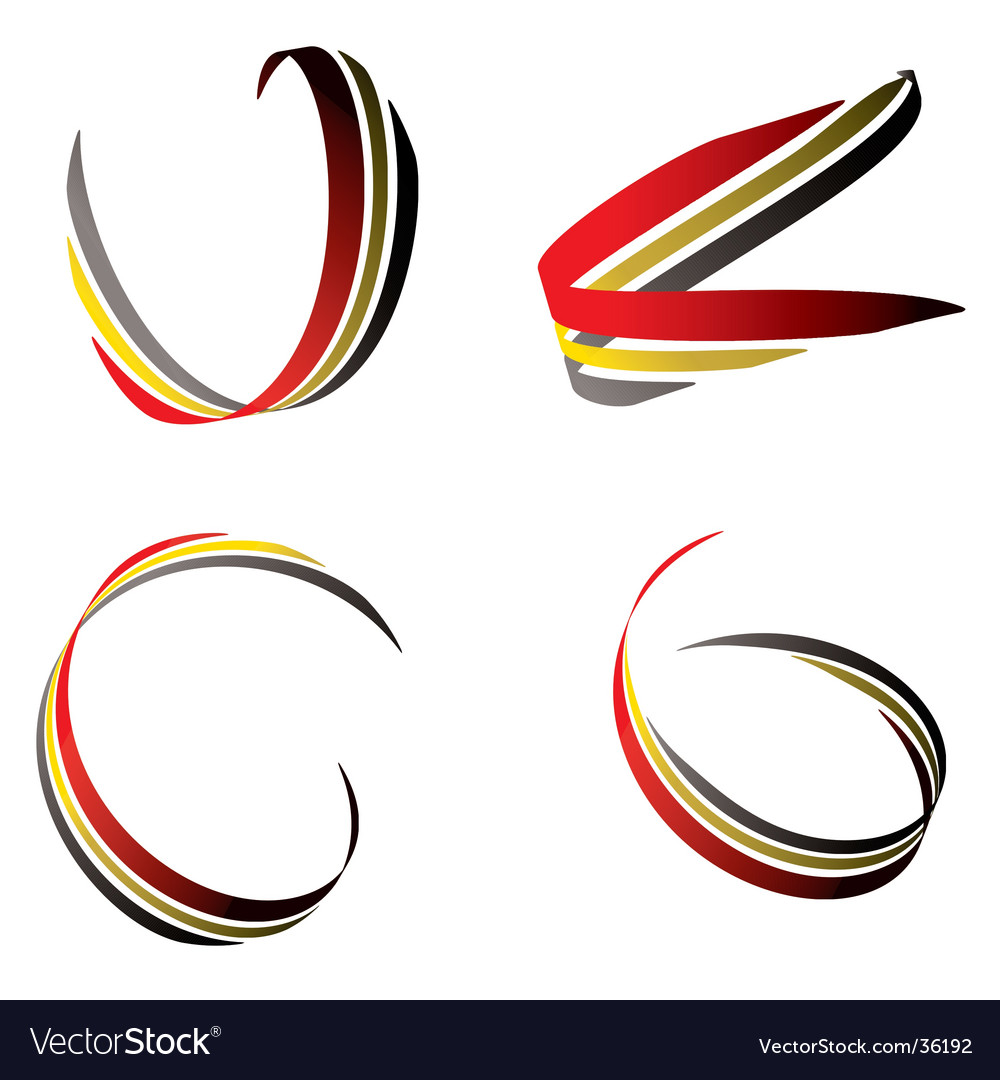 Ribbon red and gold vector | Price: 1 Credit (USD $1)