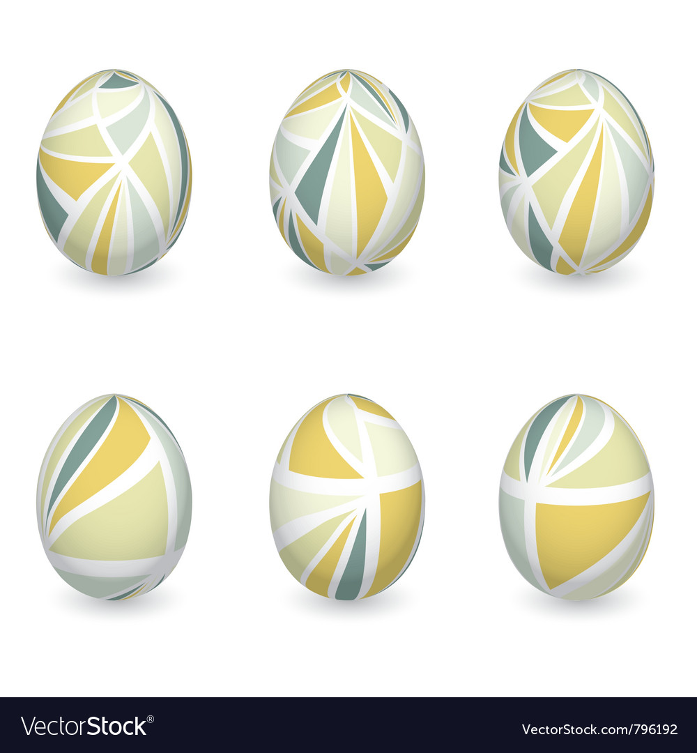 Set of colorful easter eggs vector | Price: 1 Credit (USD $1)