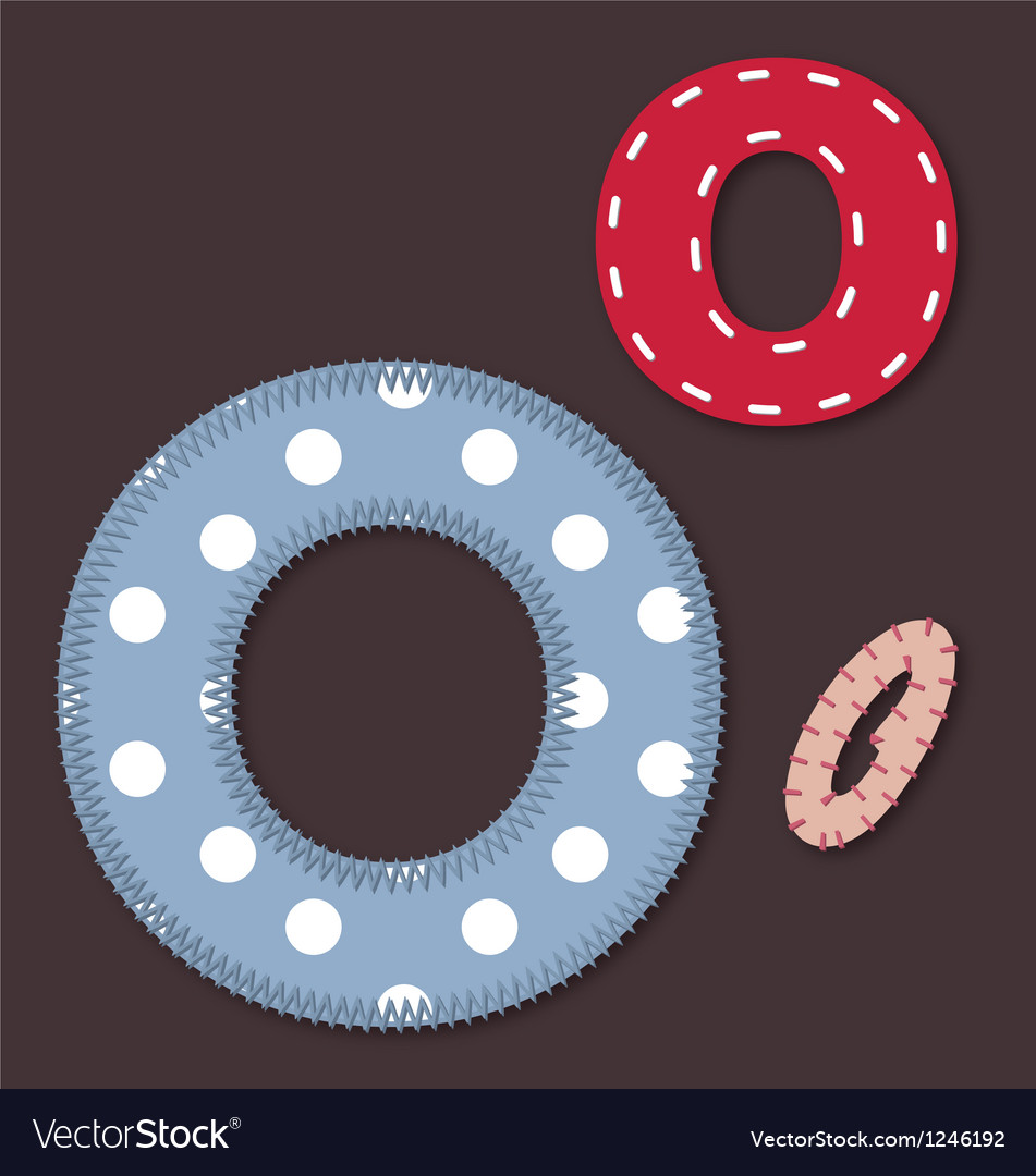 Set of stitched font - letter o vector | Price: 1 Credit (USD $1)