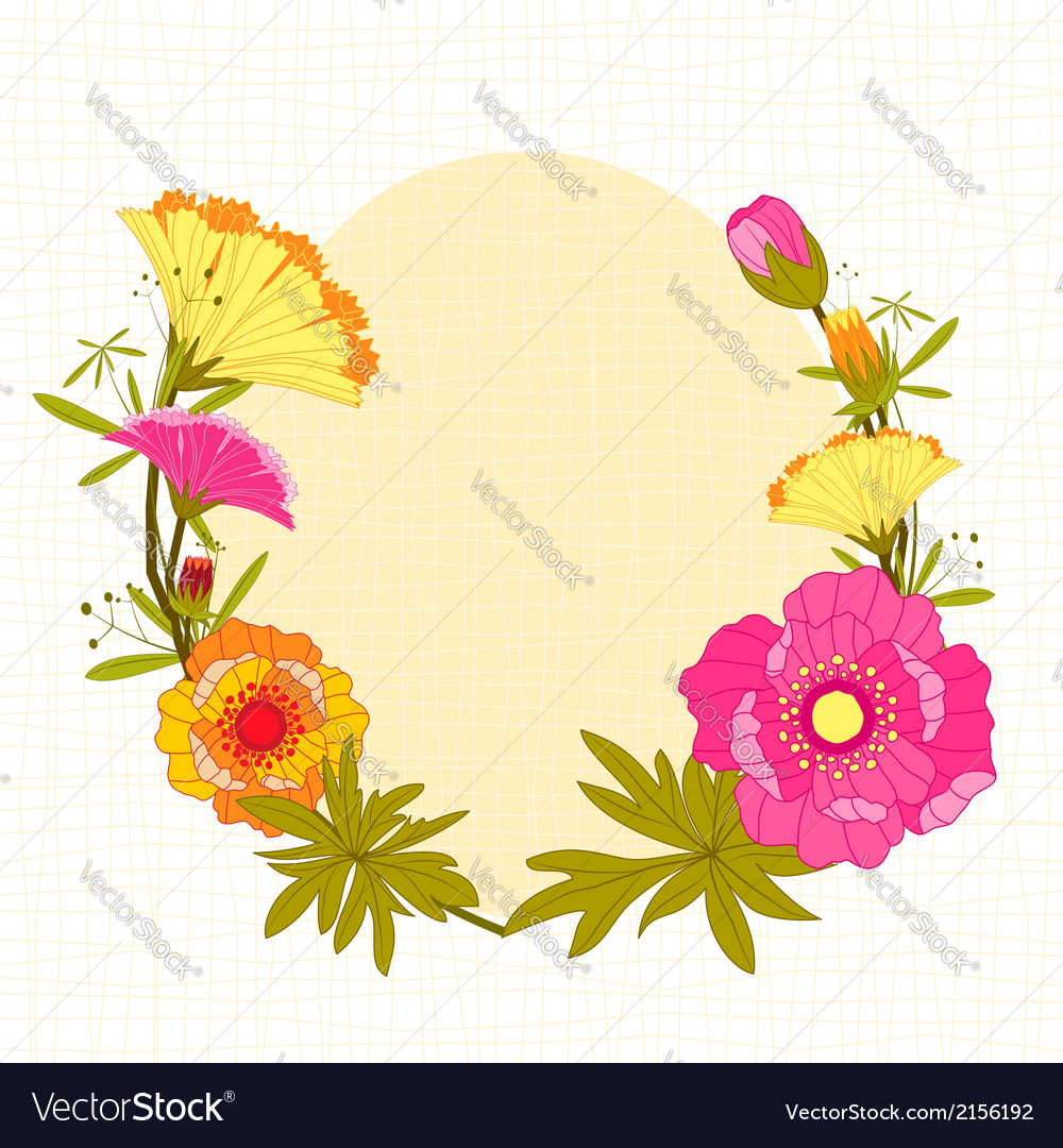 Springtime colorful flower background vector | Price: 1 Credit (USD $1)