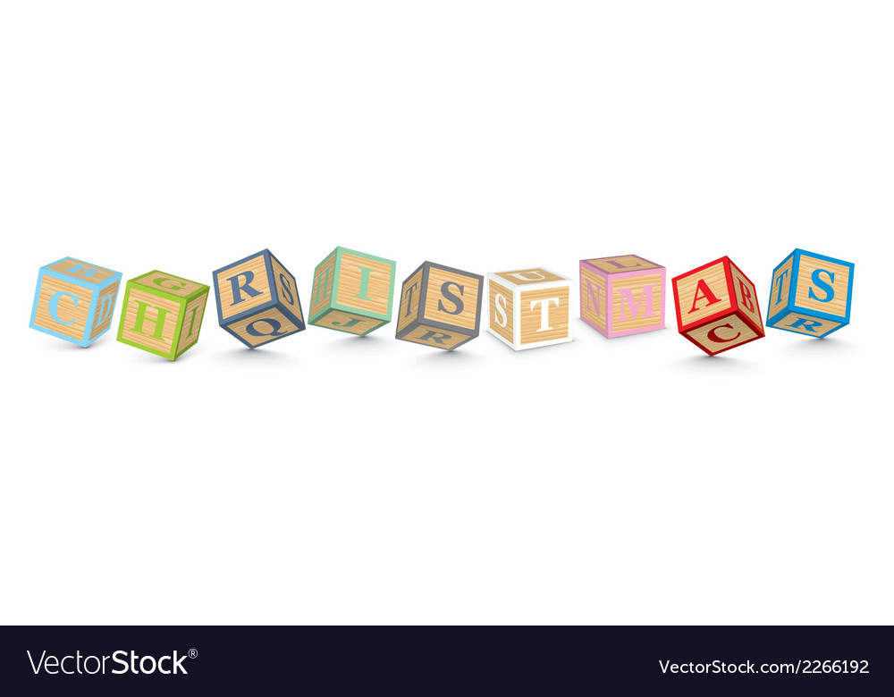 Word christmas written with alphabet blocks vector   Price: 1 Credit (USD $1)