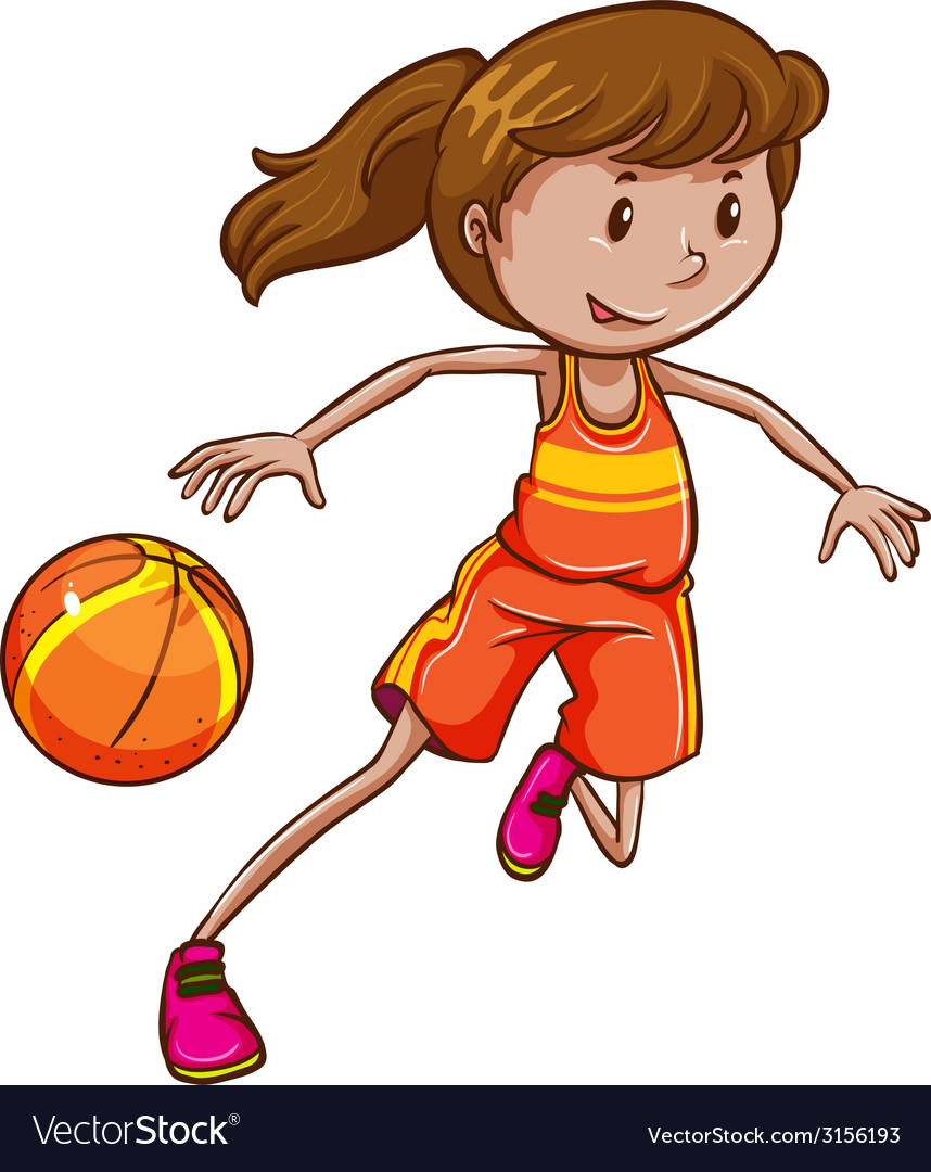 A female basketball player vector | Price: 1 Credit (USD $1)