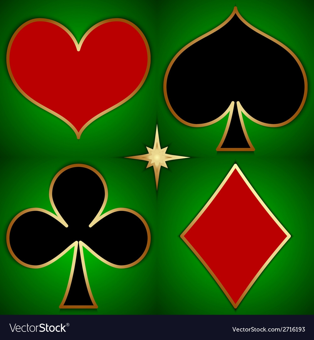 Abstract of game cards suits vector | Price: 1 Credit (USD $1)