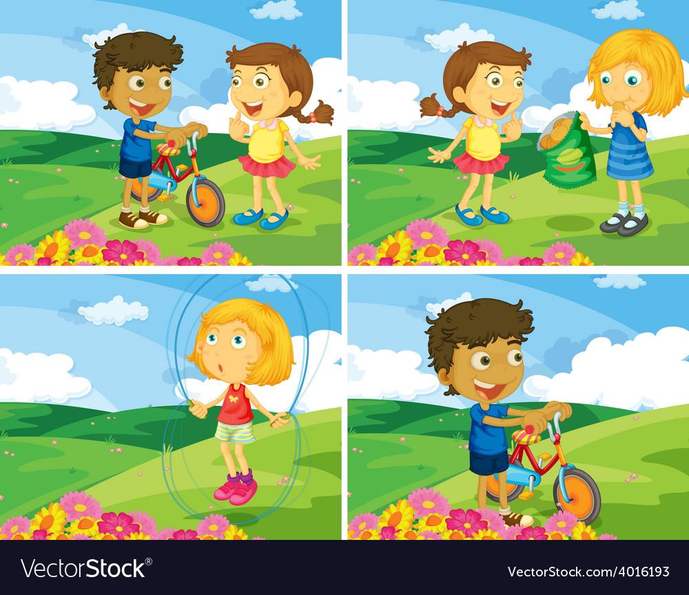 Children and park vector   Price: 1 Credit (USD $1)