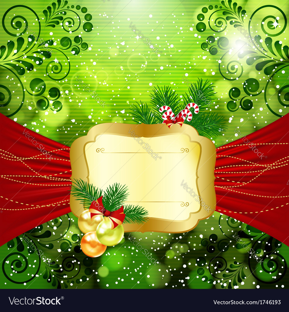 Christmas bright background with place for text vector | Price: 5 Credit (USD $5)