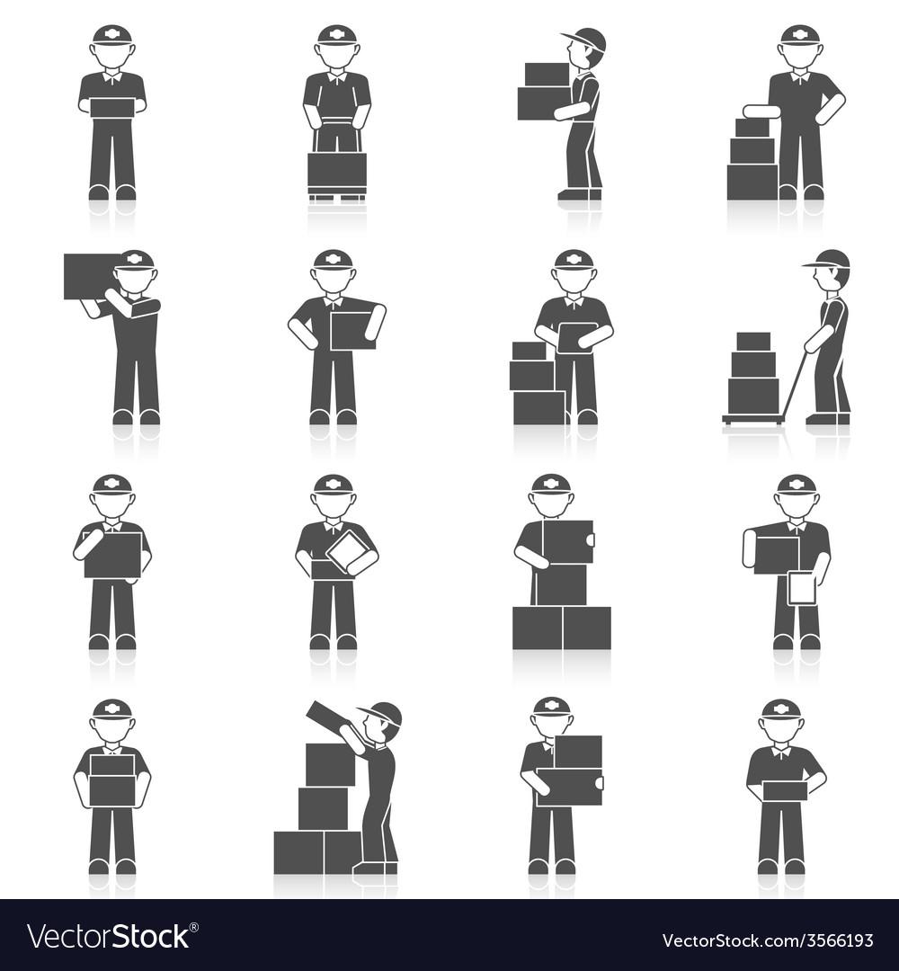 Delivery man icon vector | Price: 1 Credit (USD $1)