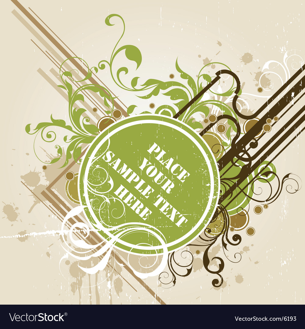 Floral banner design vector | Price: 1 Credit (USD $1)