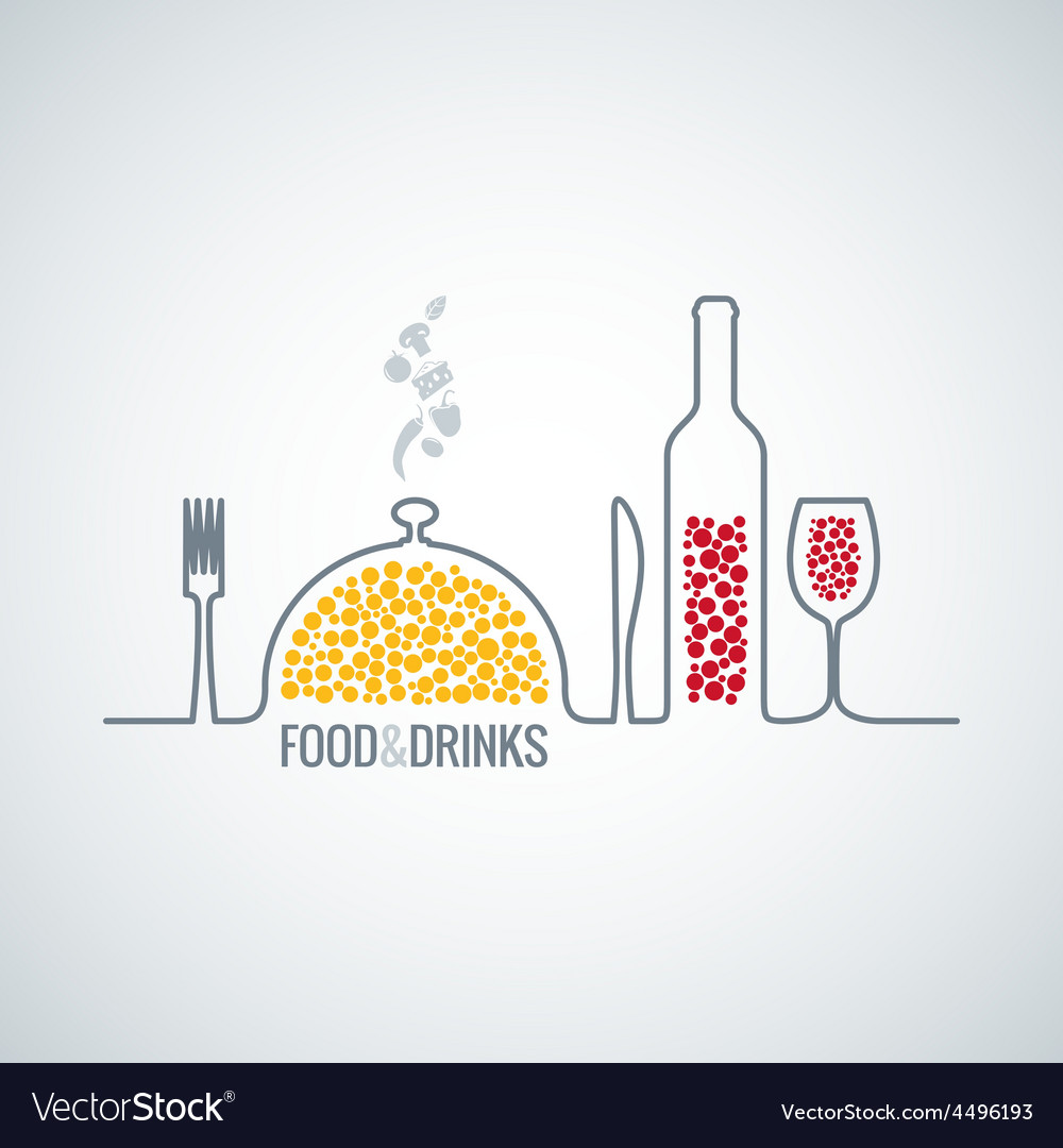 Food and drink background vector | Price: 1 Credit (USD $1)