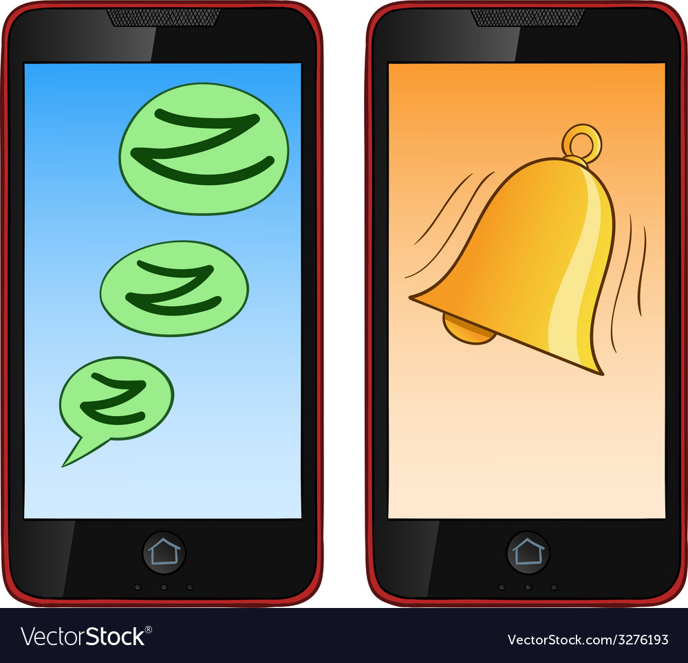 Ringing cell phone vector | Price: 1 Credit (USD $1)