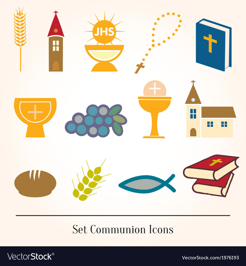 Set of a communion depicting traditio vector | Price: 1 Credit (USD $1)