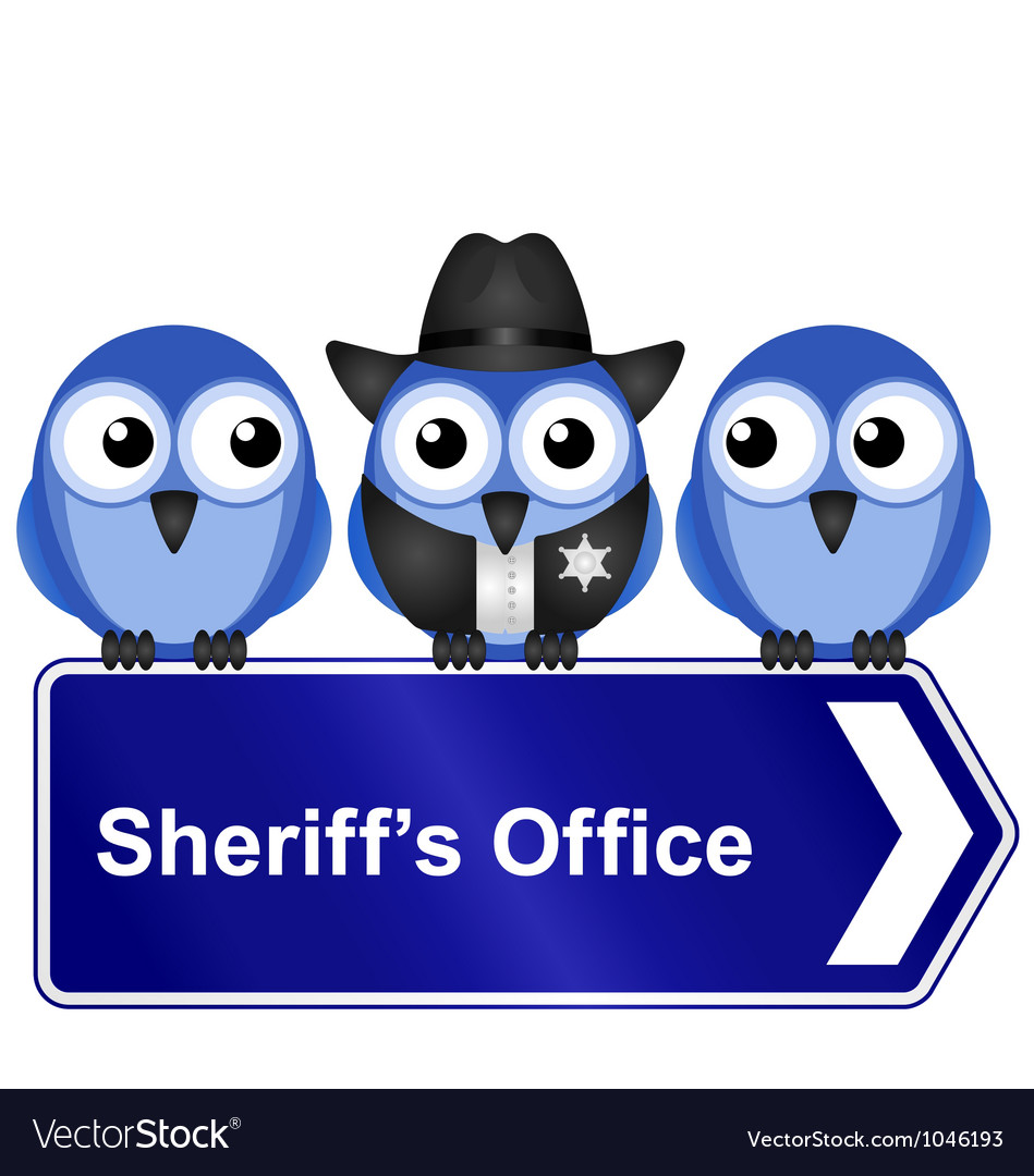 Sheriffs office sign vector | Price: 1 Credit (USD $1)