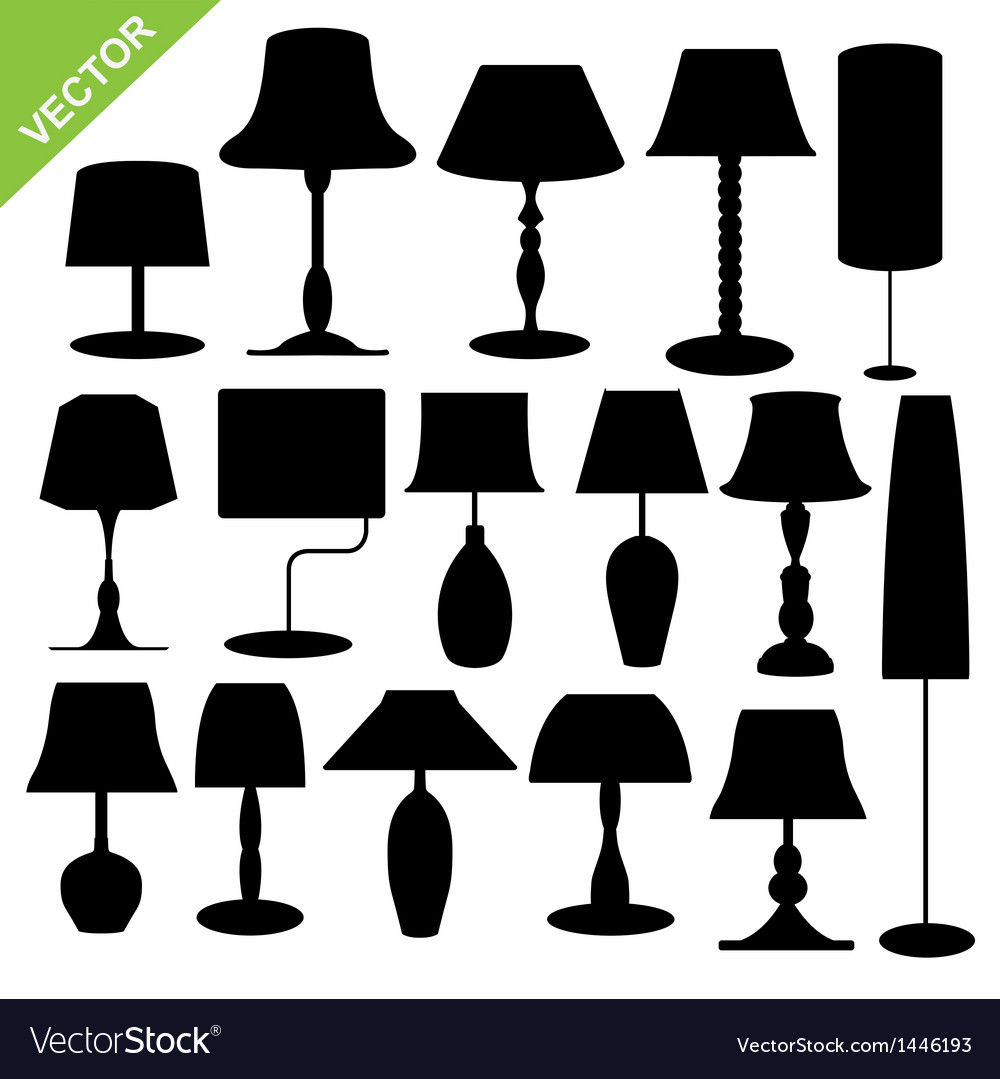 Silhouette lamp vector | Price: 1 Credit (USD $1)