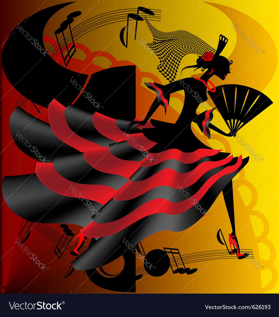 Spanish dance vector | Price: 1 Credit (USD $1)