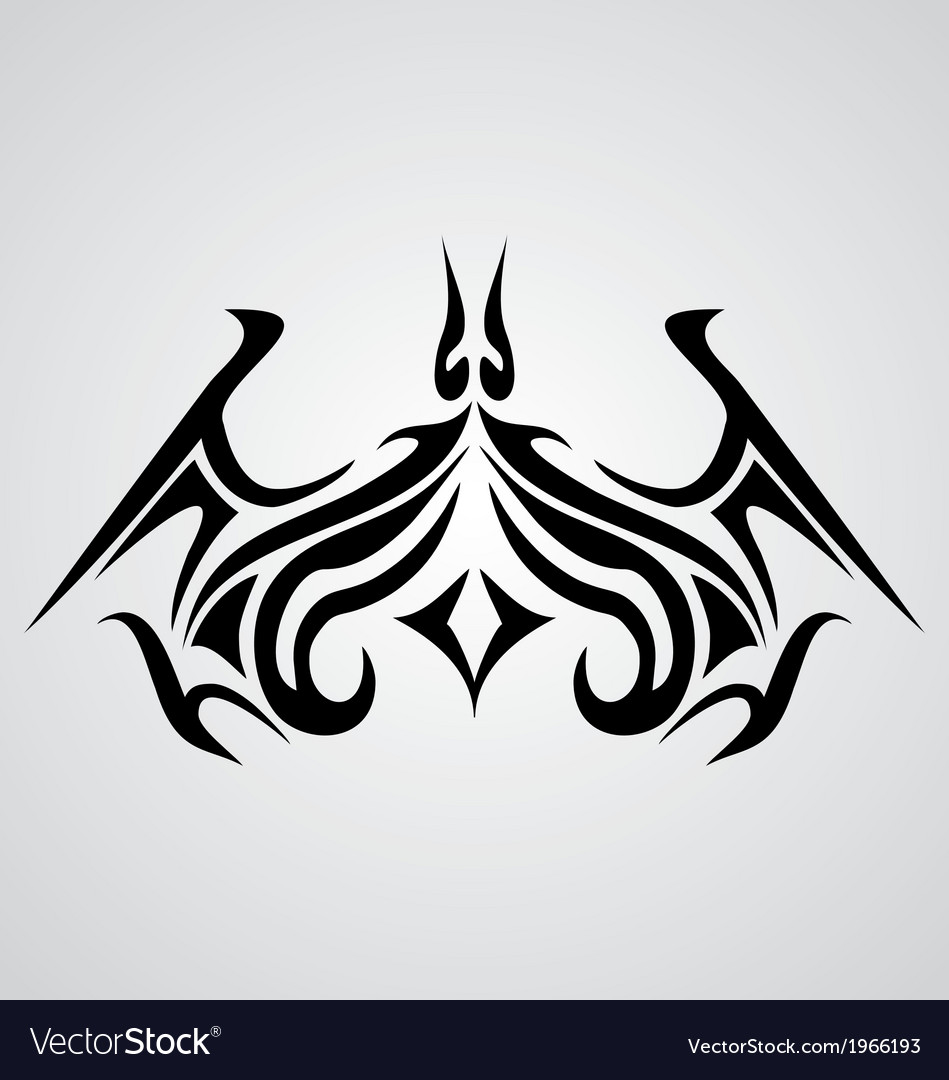 Tribal bat tattoo vector | Price: 1 Credit (USD $1)