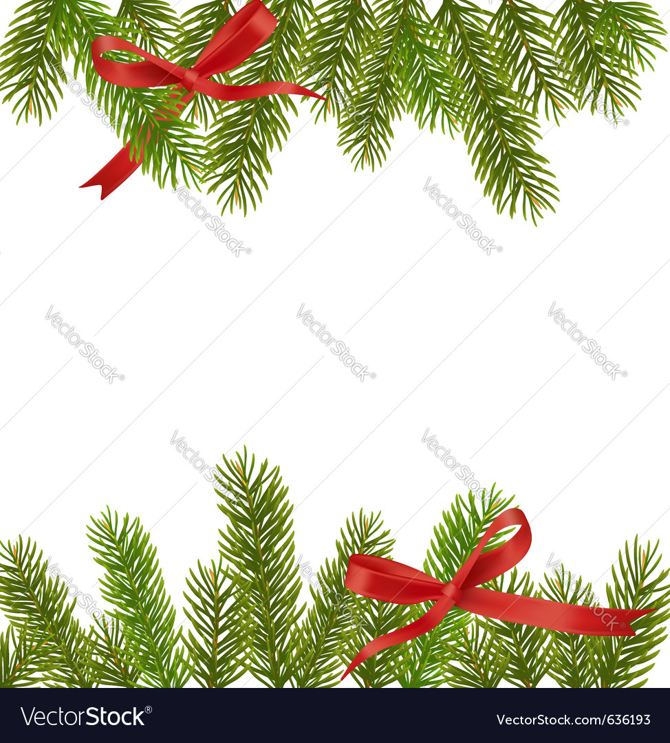 Xmas tree branches vector | Price: 1 Credit (USD $1)