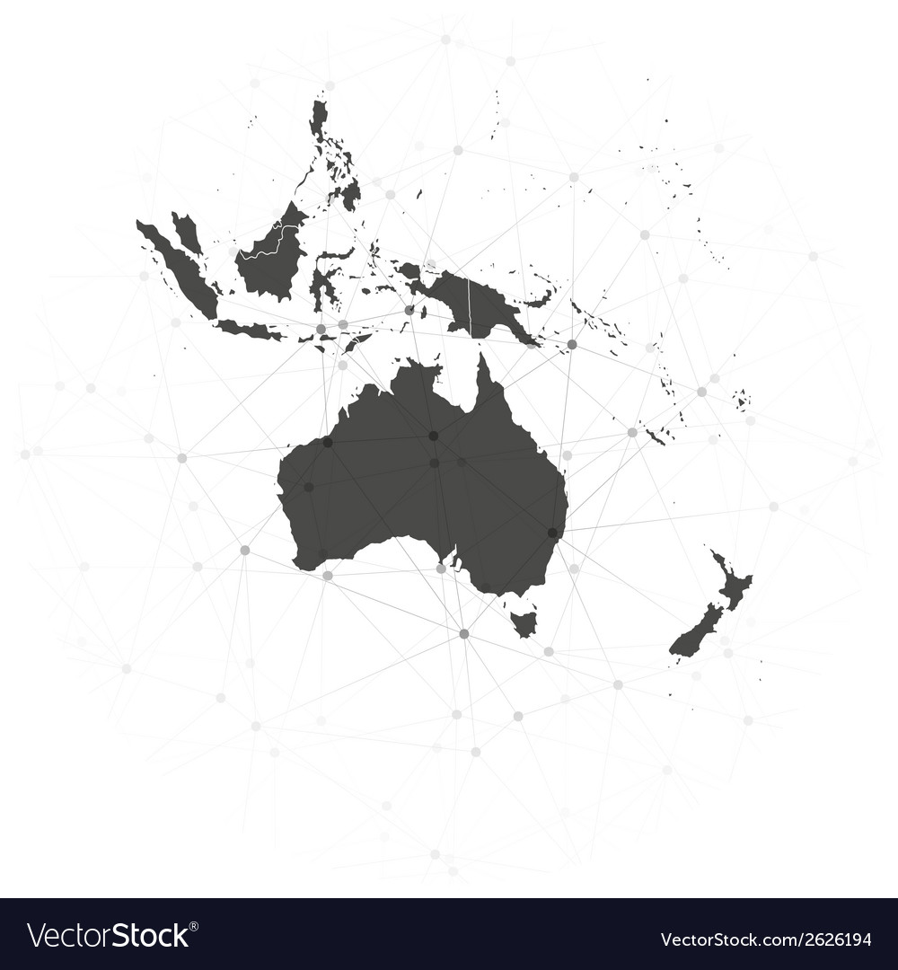 Australia map background  for communication vector | Price: 1 Credit (USD $1)