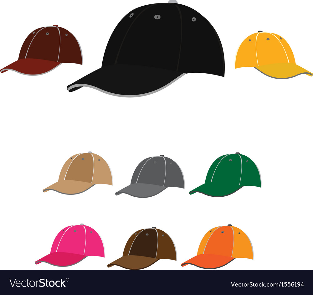 Baseball caps vector | Price: 1 Credit (USD $1)