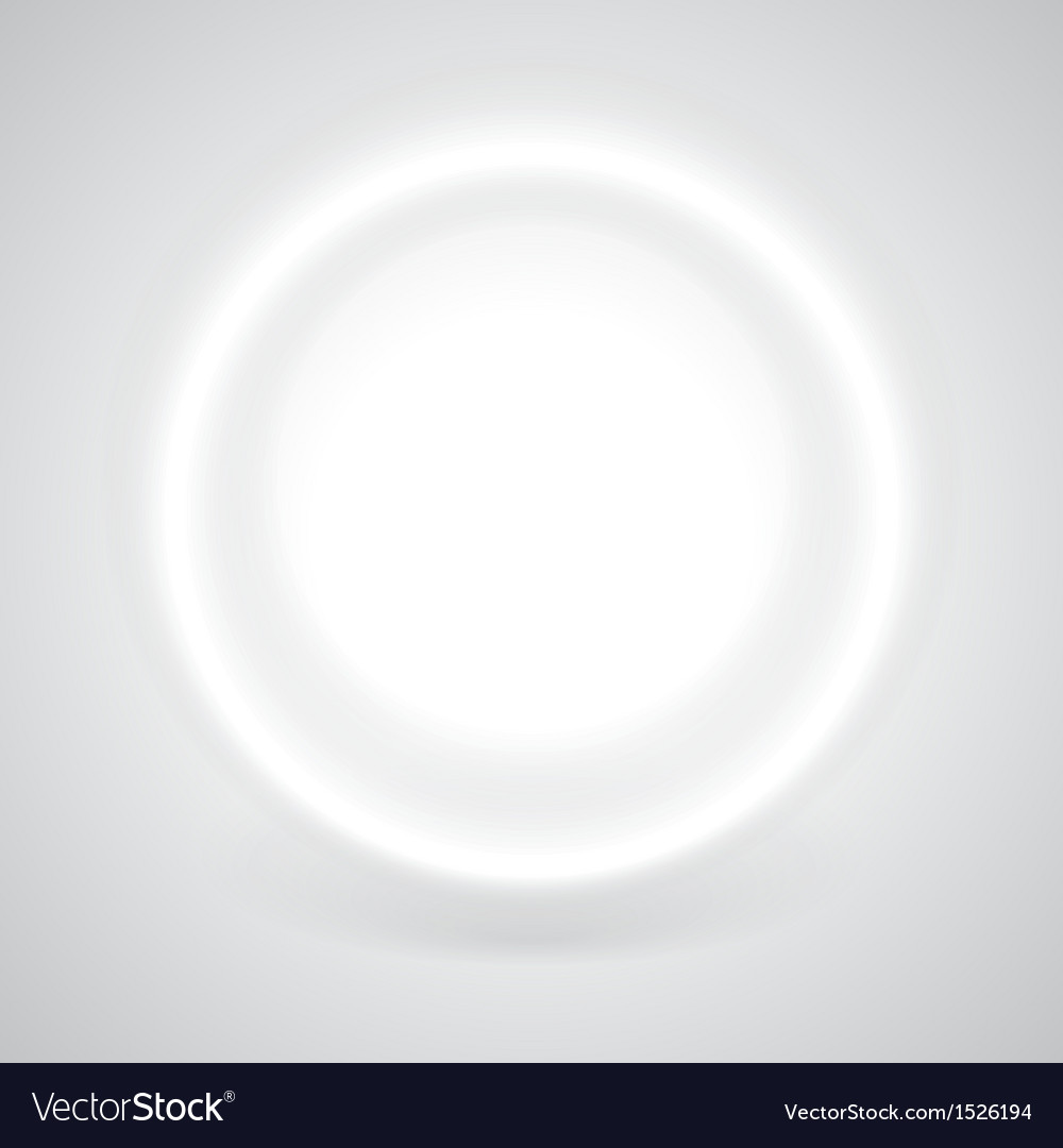 Glowing white circle with shadow vector | Price: 1 Credit (USD $1)