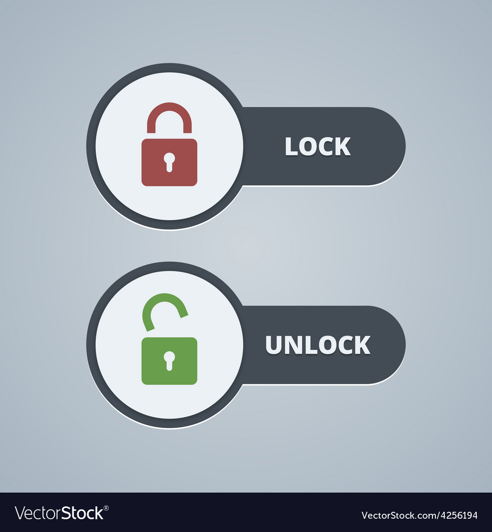 Lock and unlock for website or vector | Price: 1 Credit (USD $1)