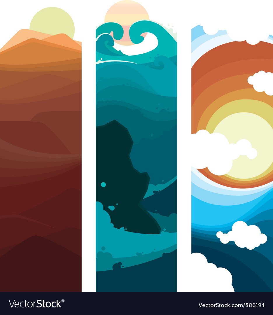 Nature layers vector | Price: 1 Credit (USD $1)