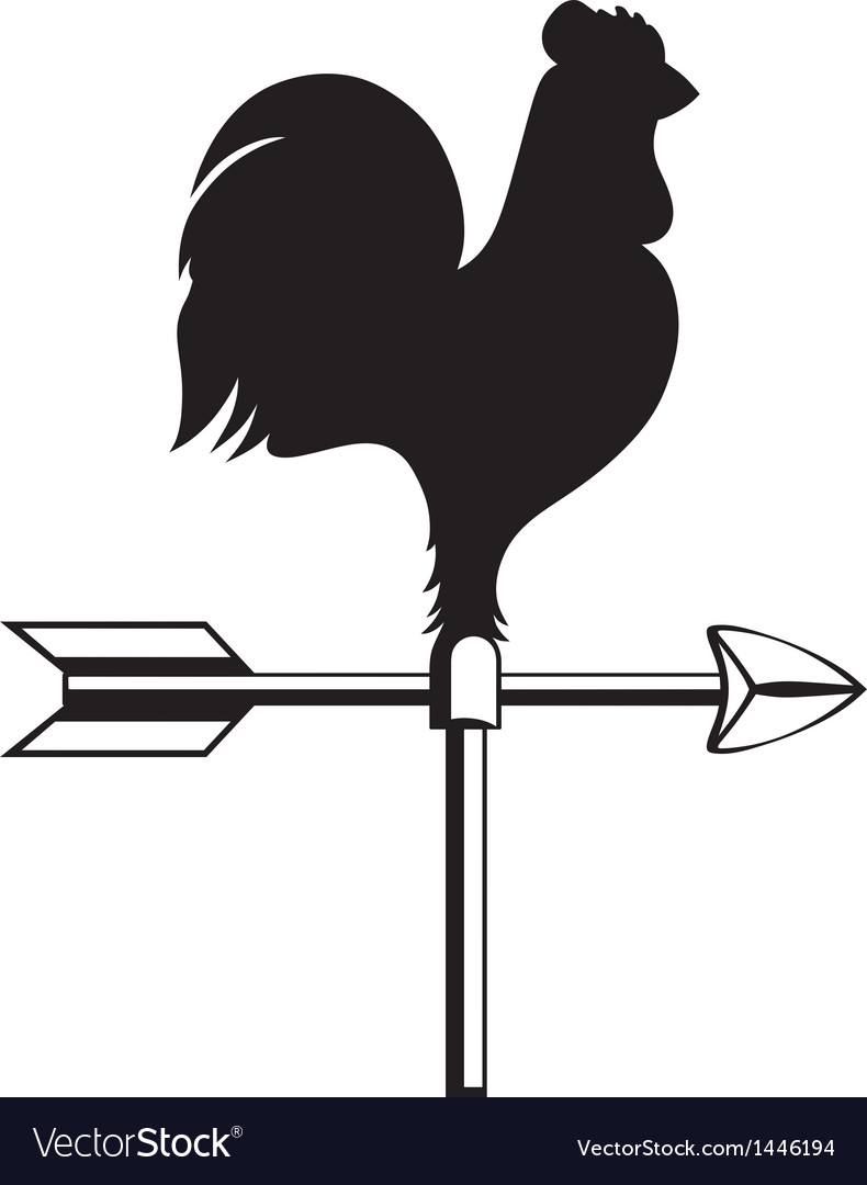 Rooster weather vane vector | Price: 1 Credit (USD $1)