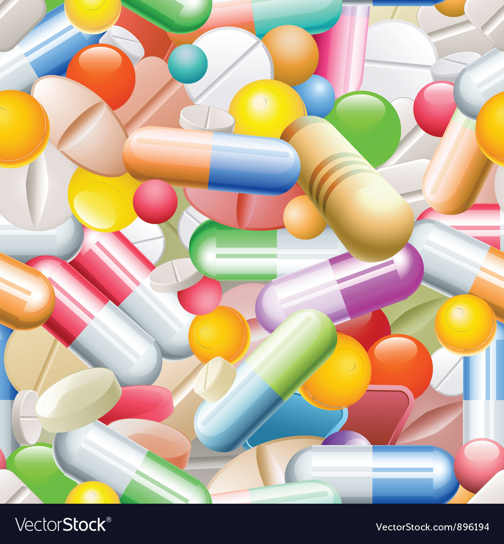 Seamless pills vector | Price: 3 Credit (USD $3)