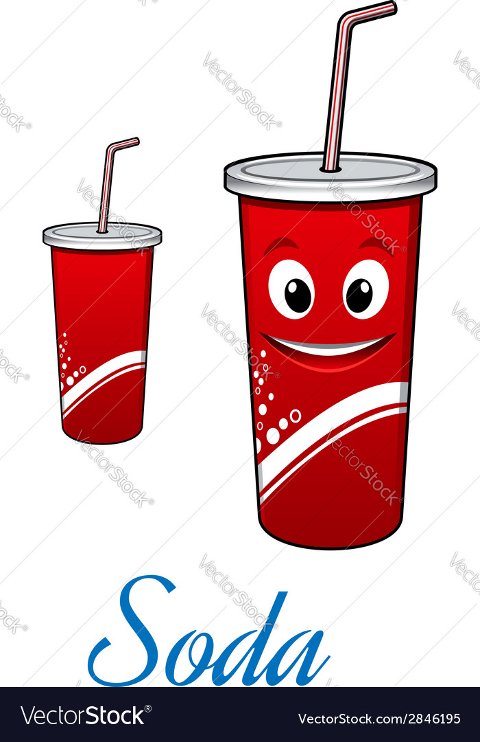 Cartoon cola or soda character vector | Price: 1 Credit (USD $1)