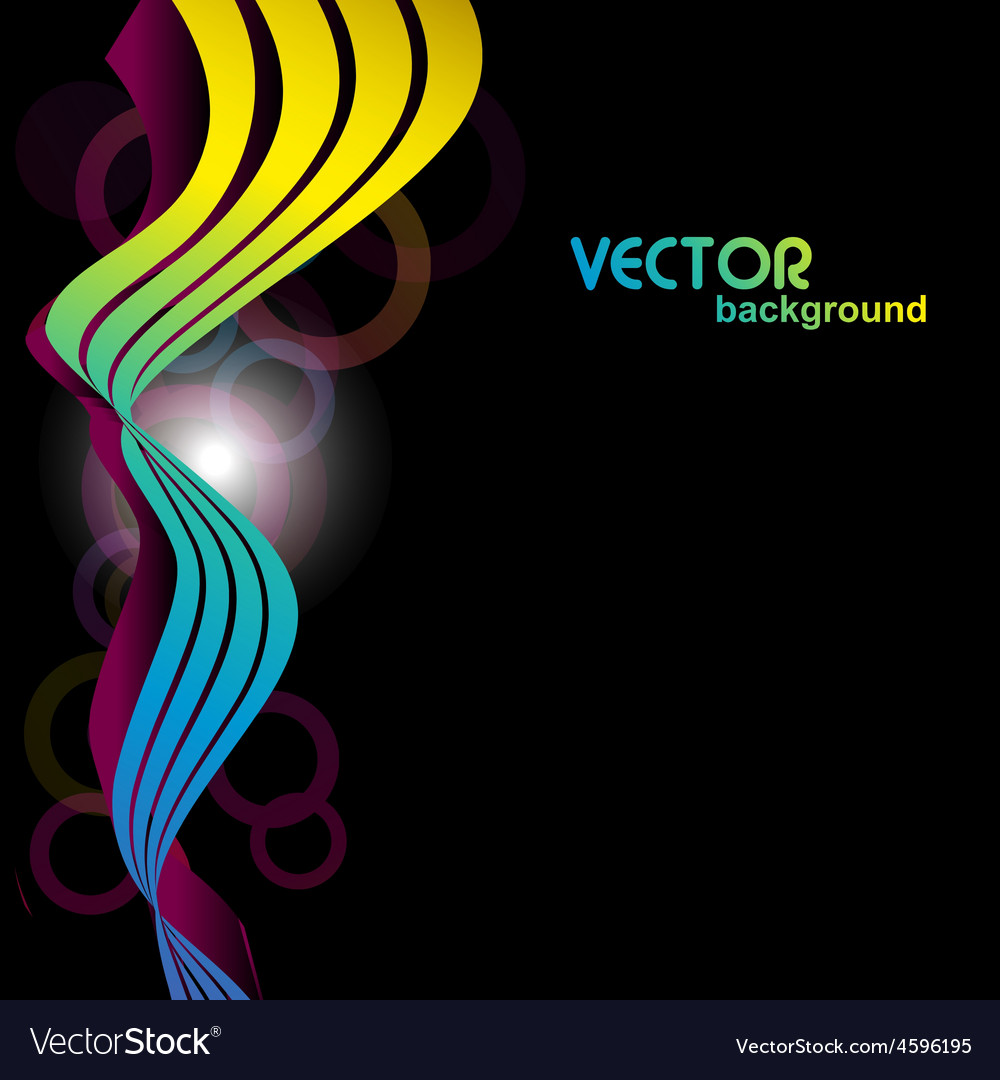 Colorful wave in 3d look vector | Price: 1 Credit (USD $1)