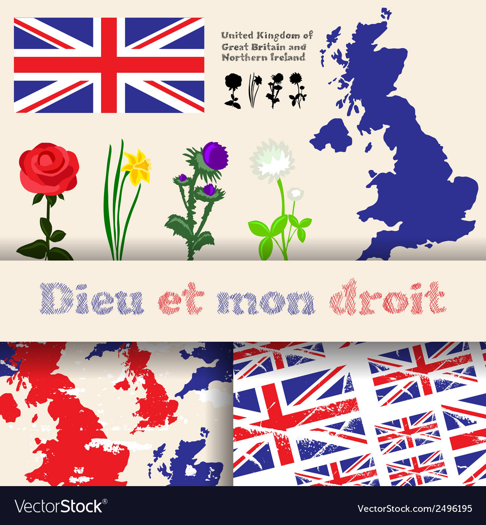 England floral symbols vector | Price: 1 Credit (USD $1)