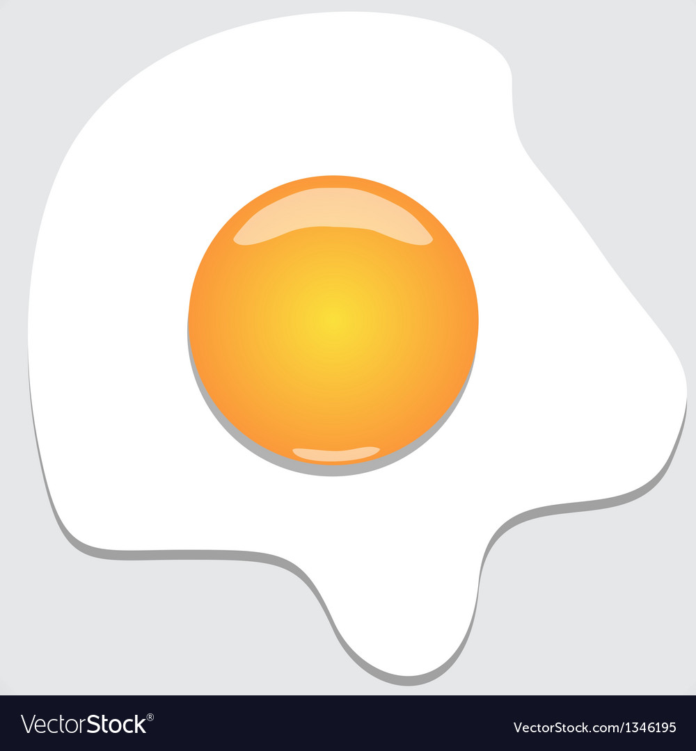 Fried egg vector | Price: 1 Credit (USD $1)