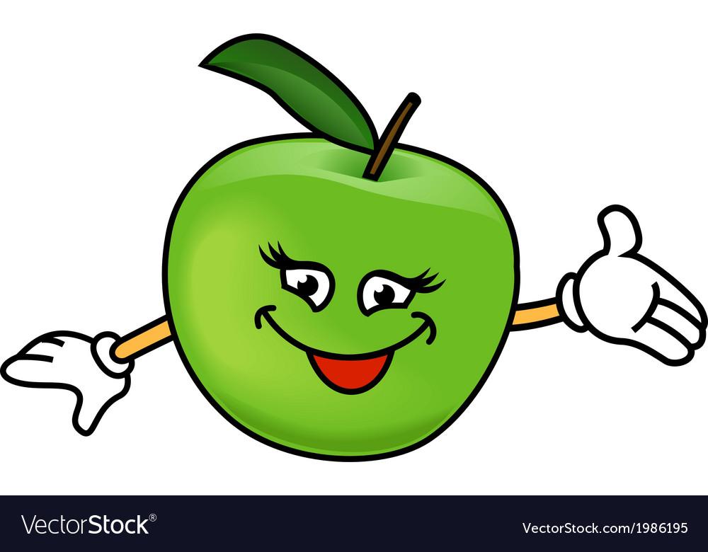 Happy apples vector | Price: 1 Credit (USD $1)