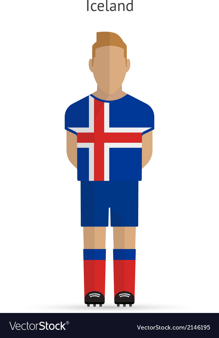 Iceland football player soccer uniform vector | Price: 1 Credit (USD $1)