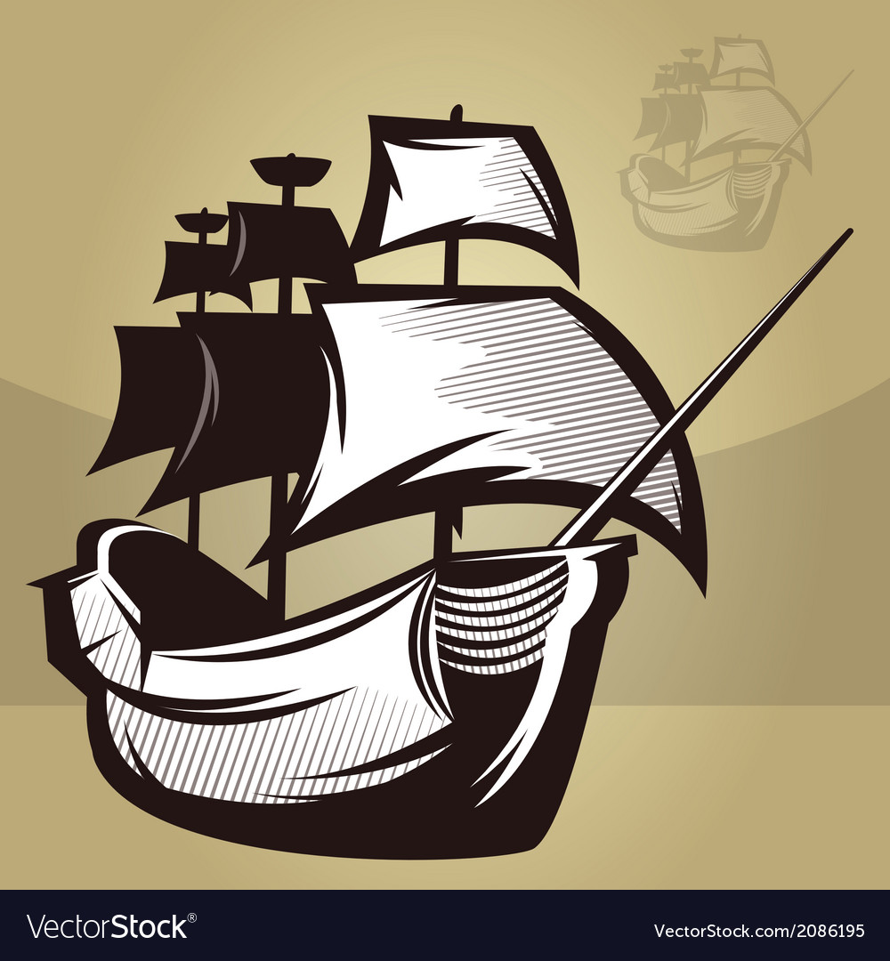 Old world ship vector | Price: 1 Credit (USD $1)