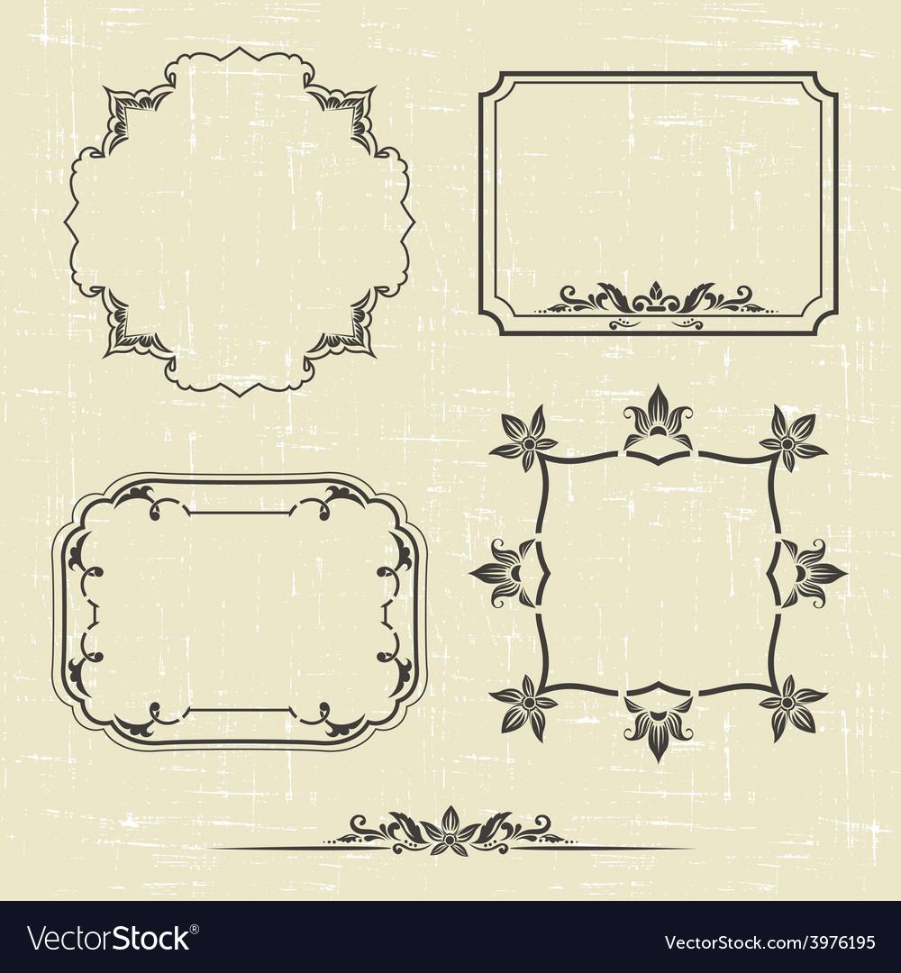 Patterned frame vector | Price: 1 Credit (USD $1)