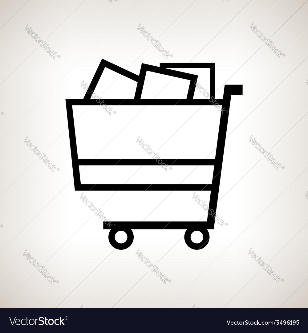 Silhouette cart on a light background vector | Price: 1 Credit (USD $1)