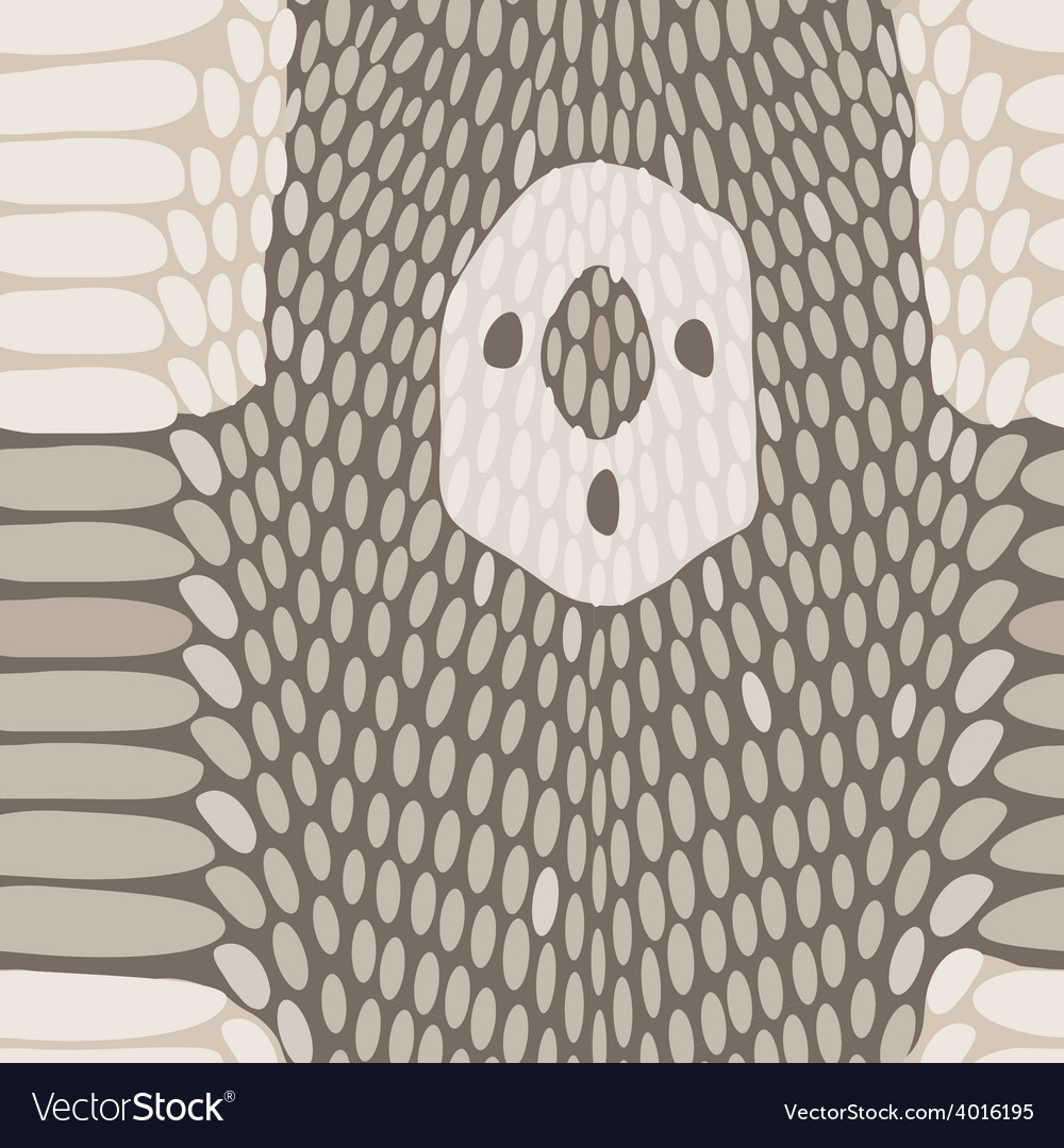 Snake skin texture seamless python skin pattern vector | Price: 1 Credit (USD $1)