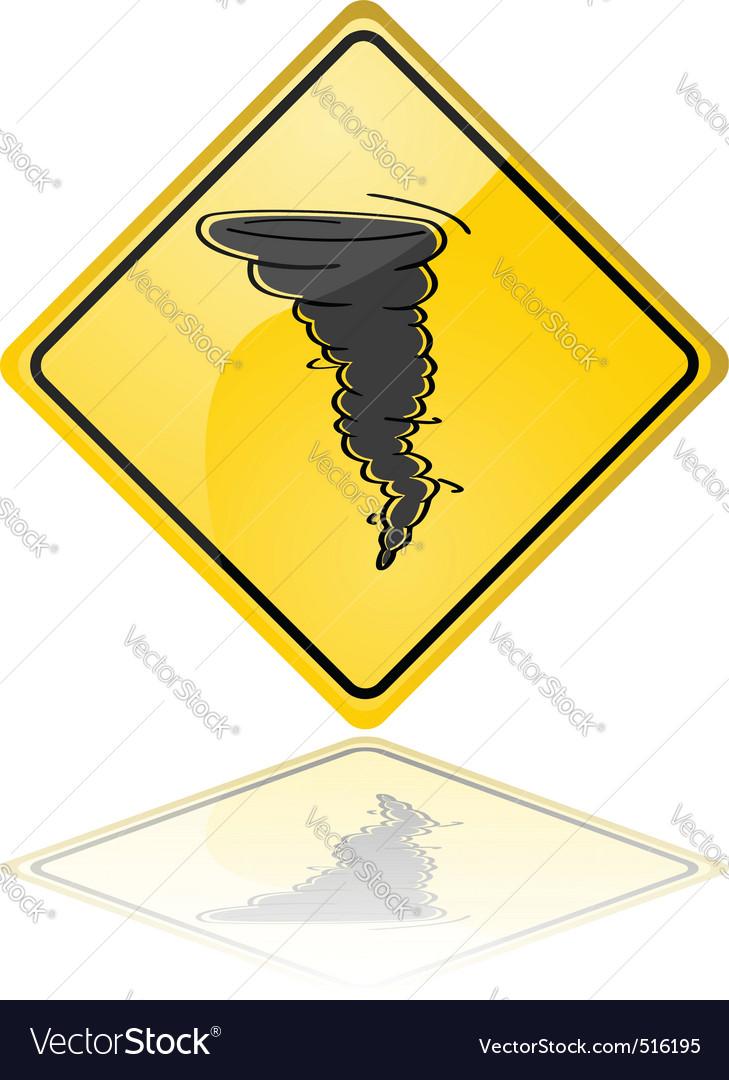 Tornado warning sign vector | Price: 1 Credit (USD $1)
