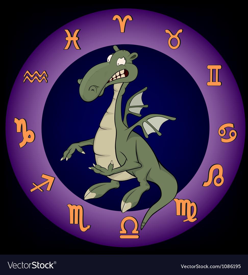 Zodiac signs dragon vector   Price: 1 Credit (USD $1)