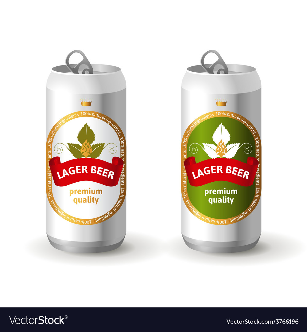 Aluminium beer cans vector | Price: 3 Credit (USD $3)