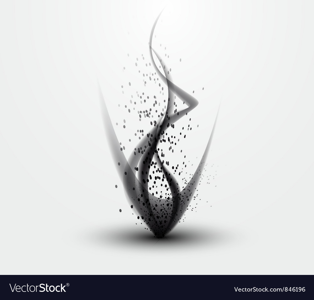 Black smoke pattern vector | Price: 1 Credit (USD $1)