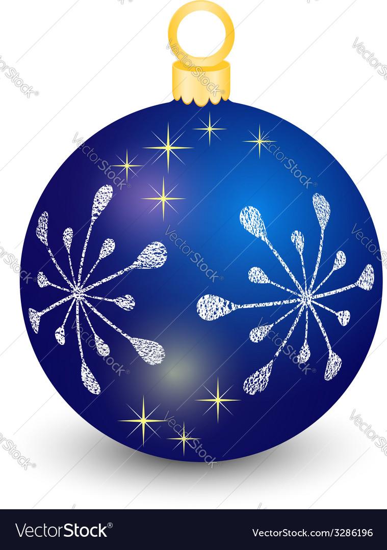 Blue christmas ball vector | Price: 1 Credit (USD $1)